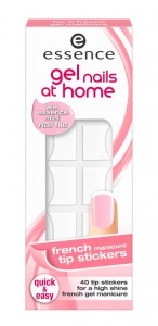 essence gel nails at home french manicure tip stickers