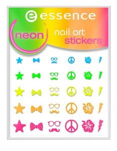 ess. nail art neon stickers